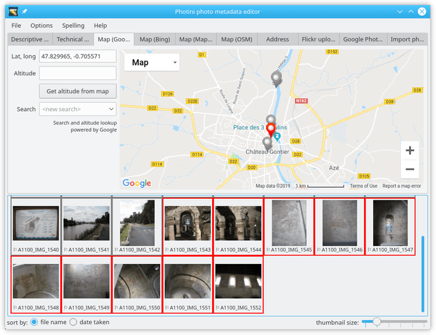 Geotagging screenshot