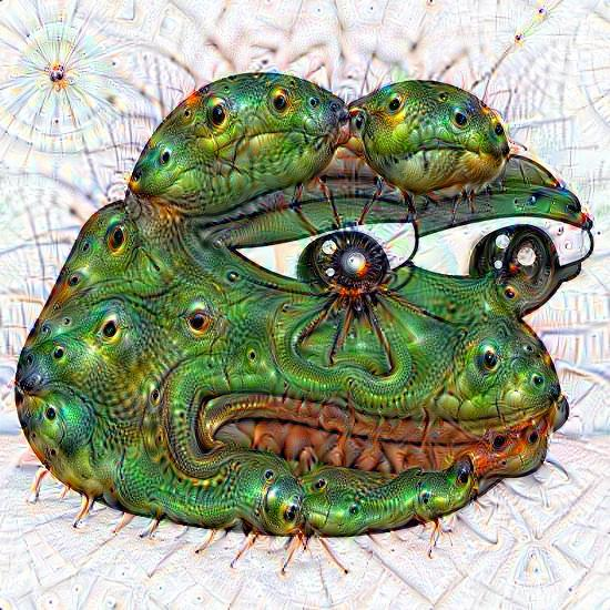 deepdream frog