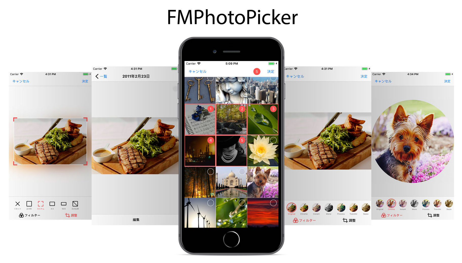 GitHub - tribalmedia/FMPhotoPicker: A modern, simple and