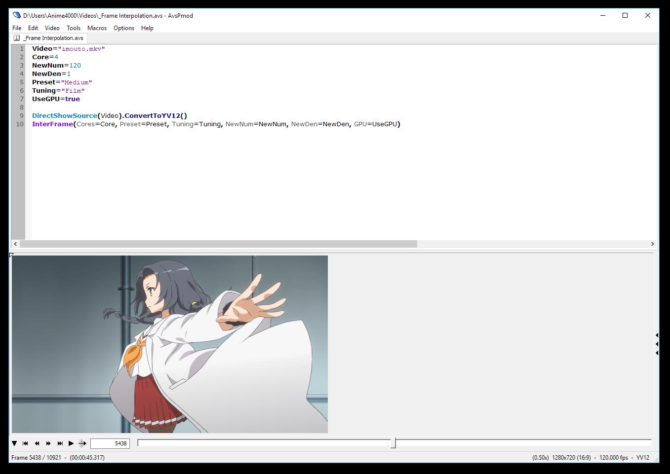 AviSynth Frame Interpolation · Anime4000/IFME Wiki · GitHub