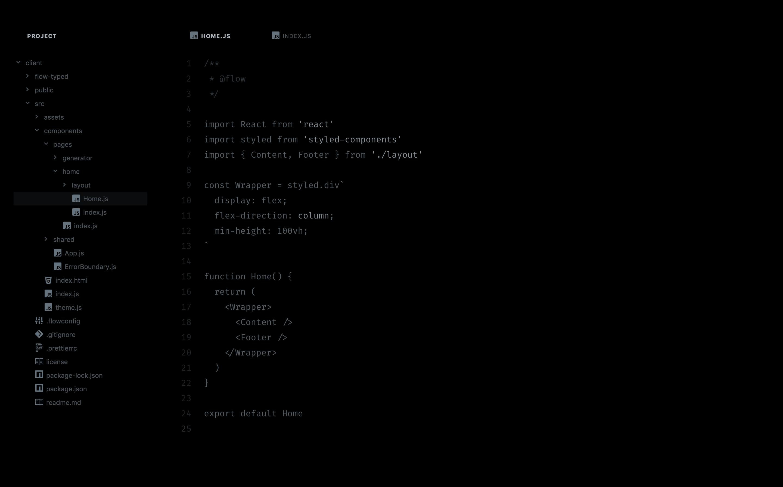 Night UI Screenshot