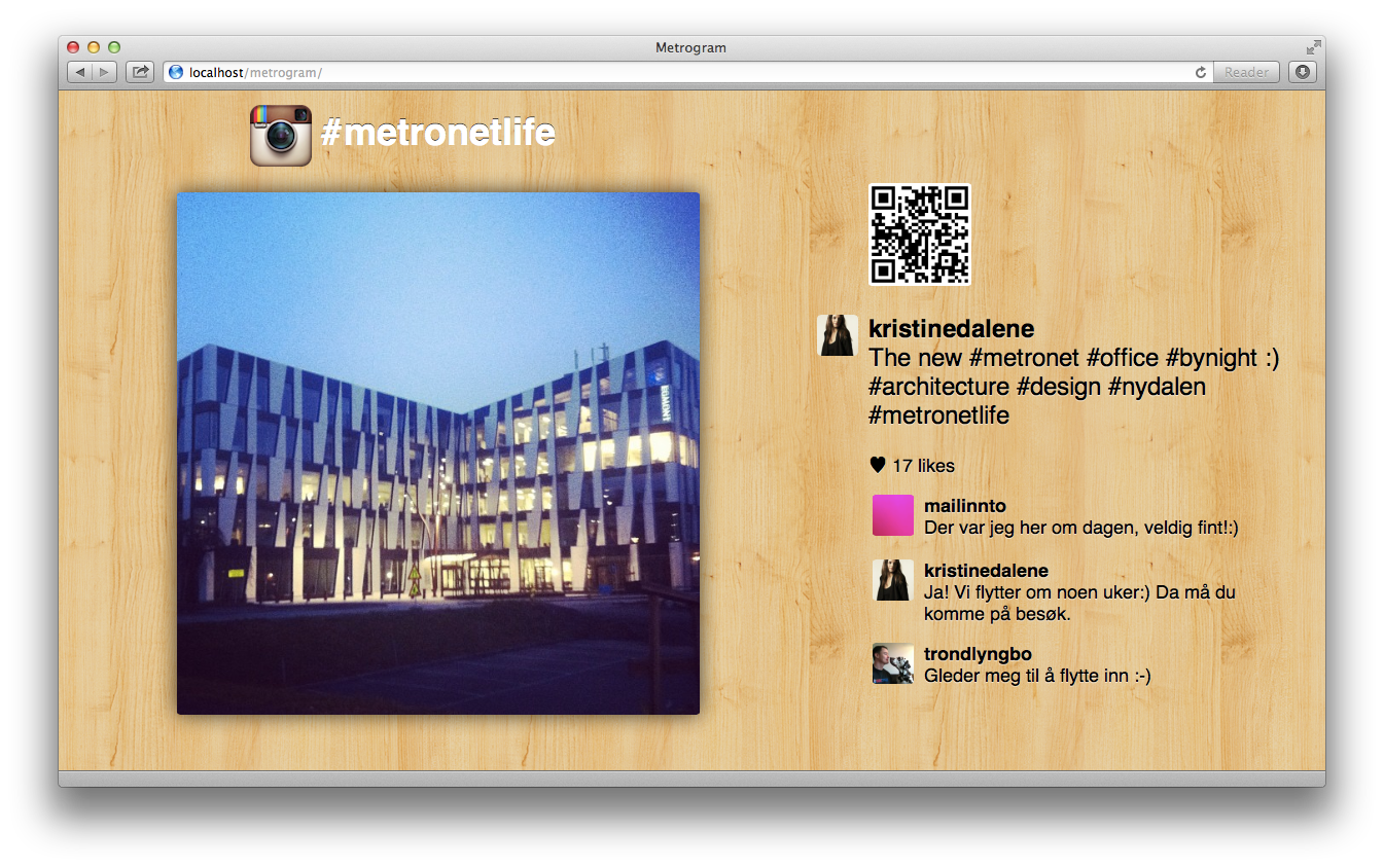 Screenshot of Metrogram