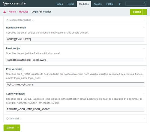 """""""Screenshot showing the module settings"""""""