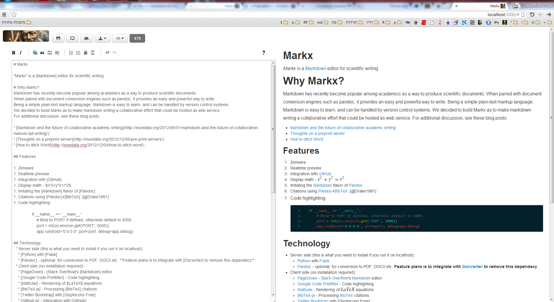GitHub - yoavram/markx: Markdown editor for scientific