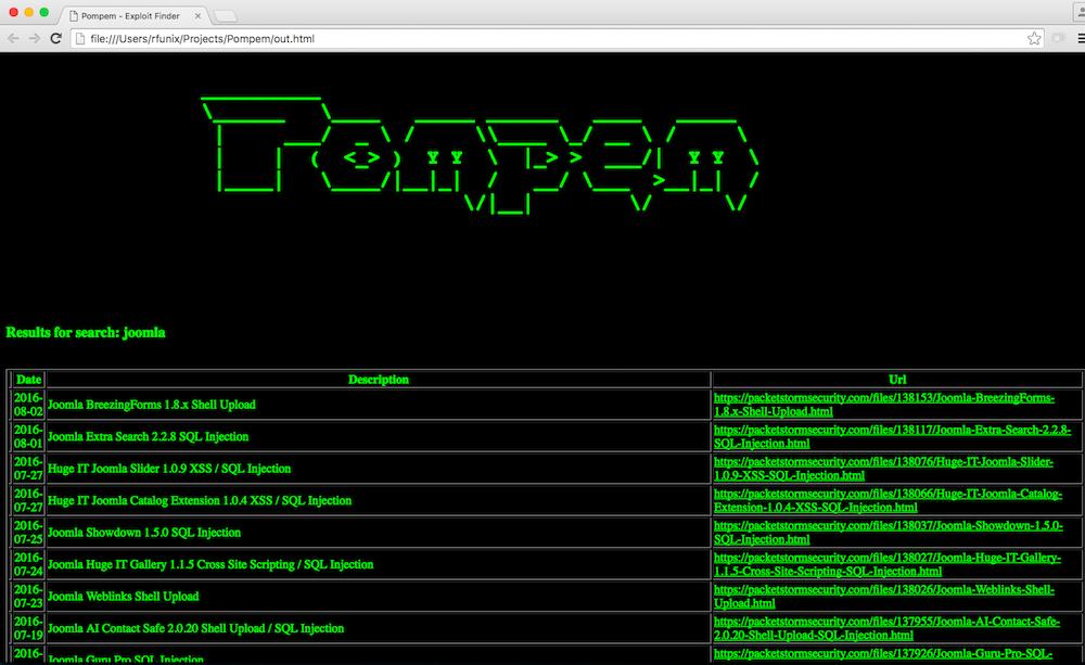 GitHub - rfunix/Pompem: Find exploit tool