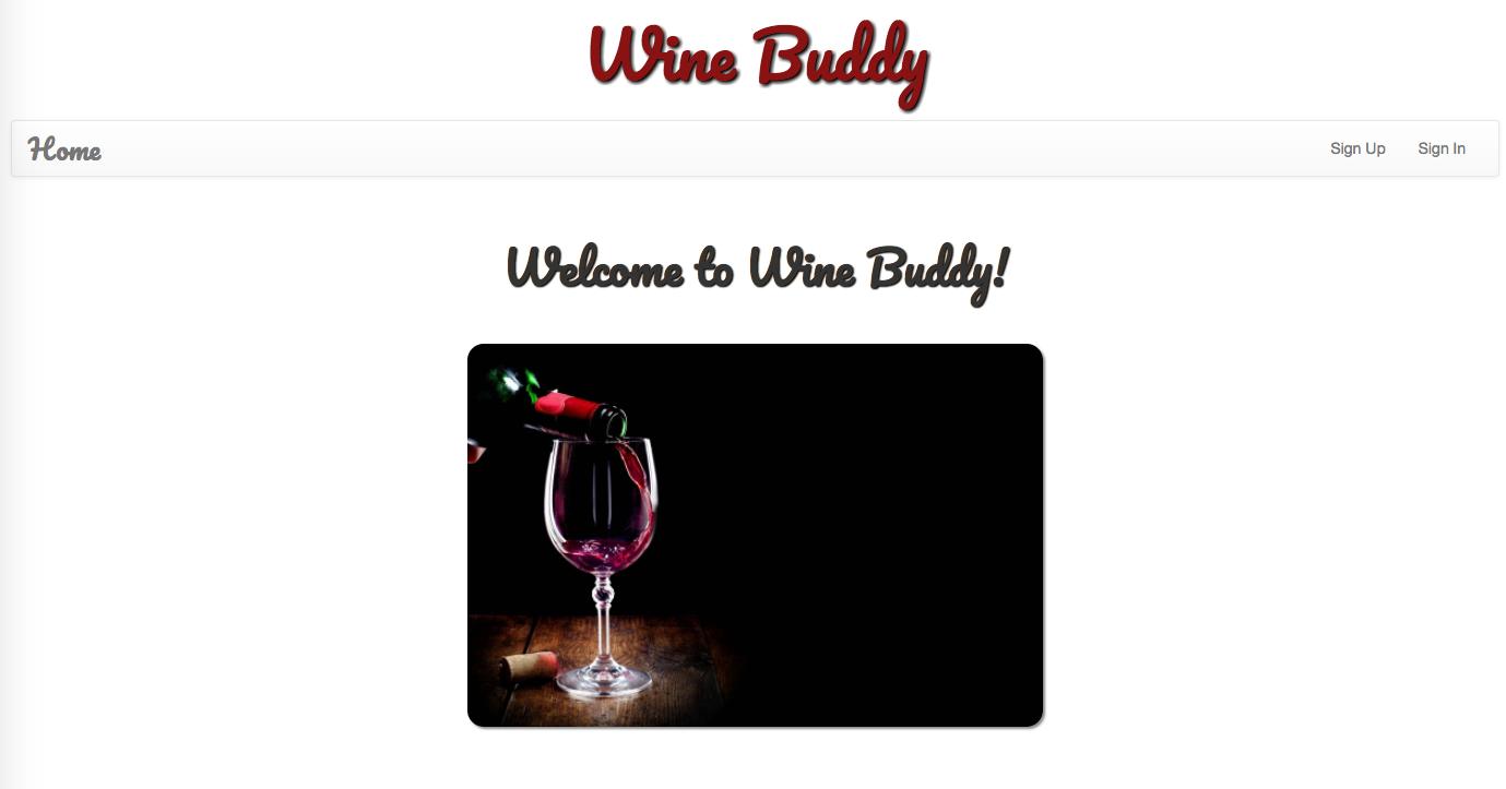 Wine Buddy Main
