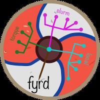 fyrd cluster logo — a Saxon shield remeniscent of those used in fyrds