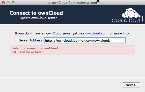 SSL handshake error with OSX client · Issue #712 · owncloud/client