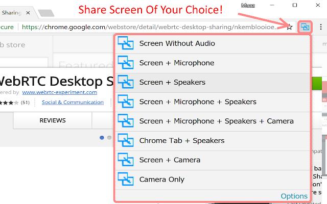 WebRTC Screen Sharing