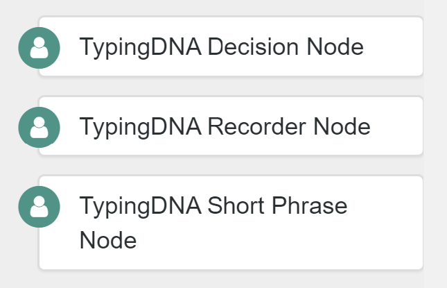 The TypingDNA nodes in ForgeRock