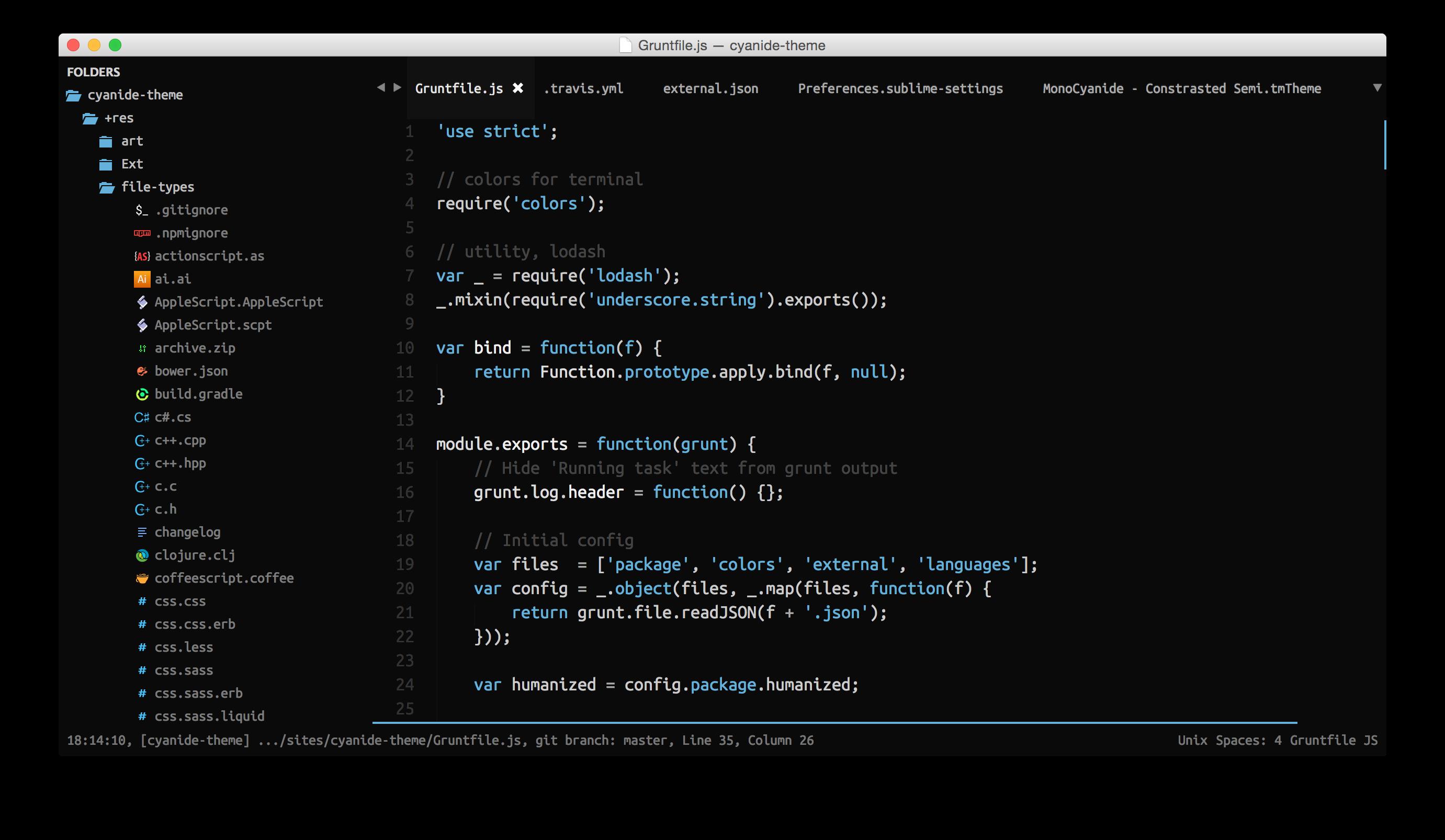 Default Theme Screenshot 1