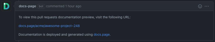 GitHub Bot comment