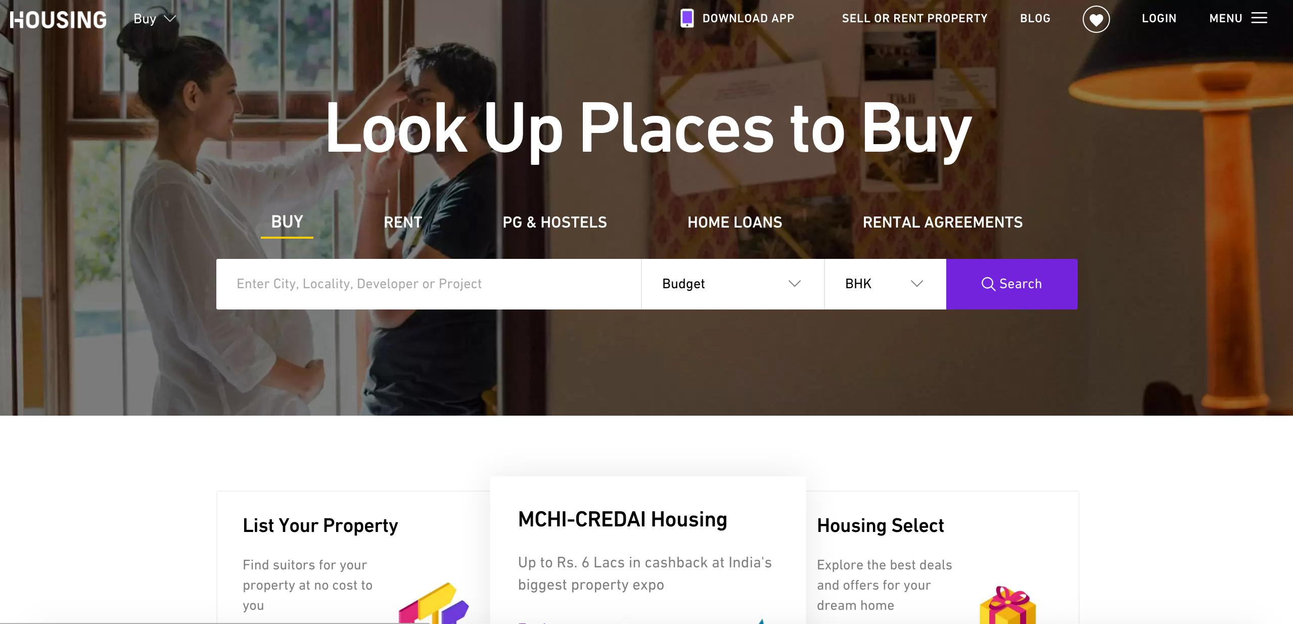 Housing screenshot