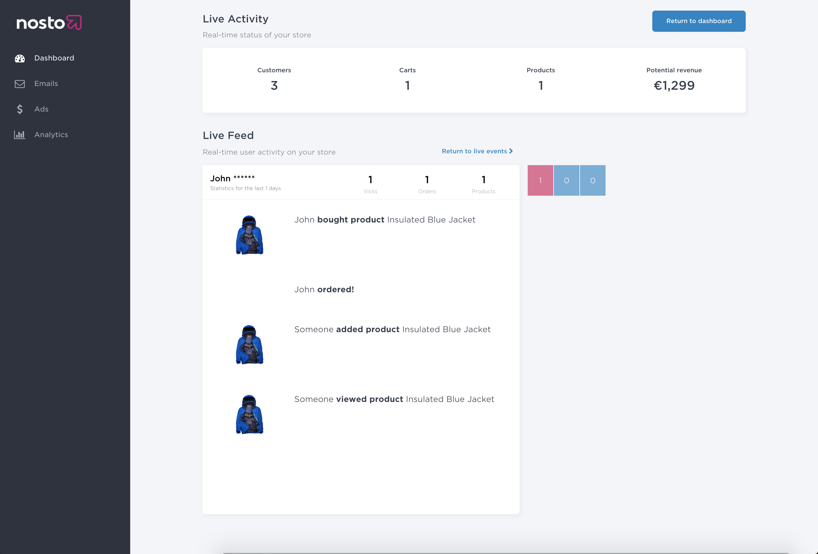 live-feed-product-order