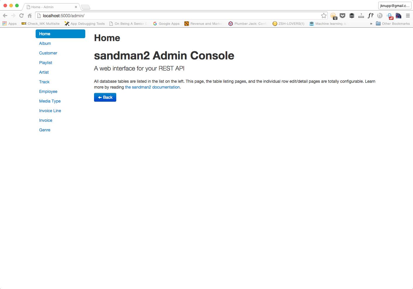 admin interface awesomesauce screenshot