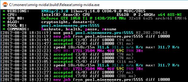 GitHub - xmrig/xmrig-nvidia: Monero (XMR) NVIDIA miner