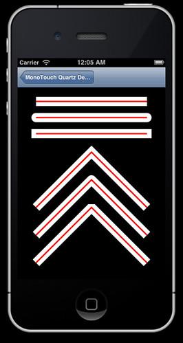 iPhone running Quartz sample three
