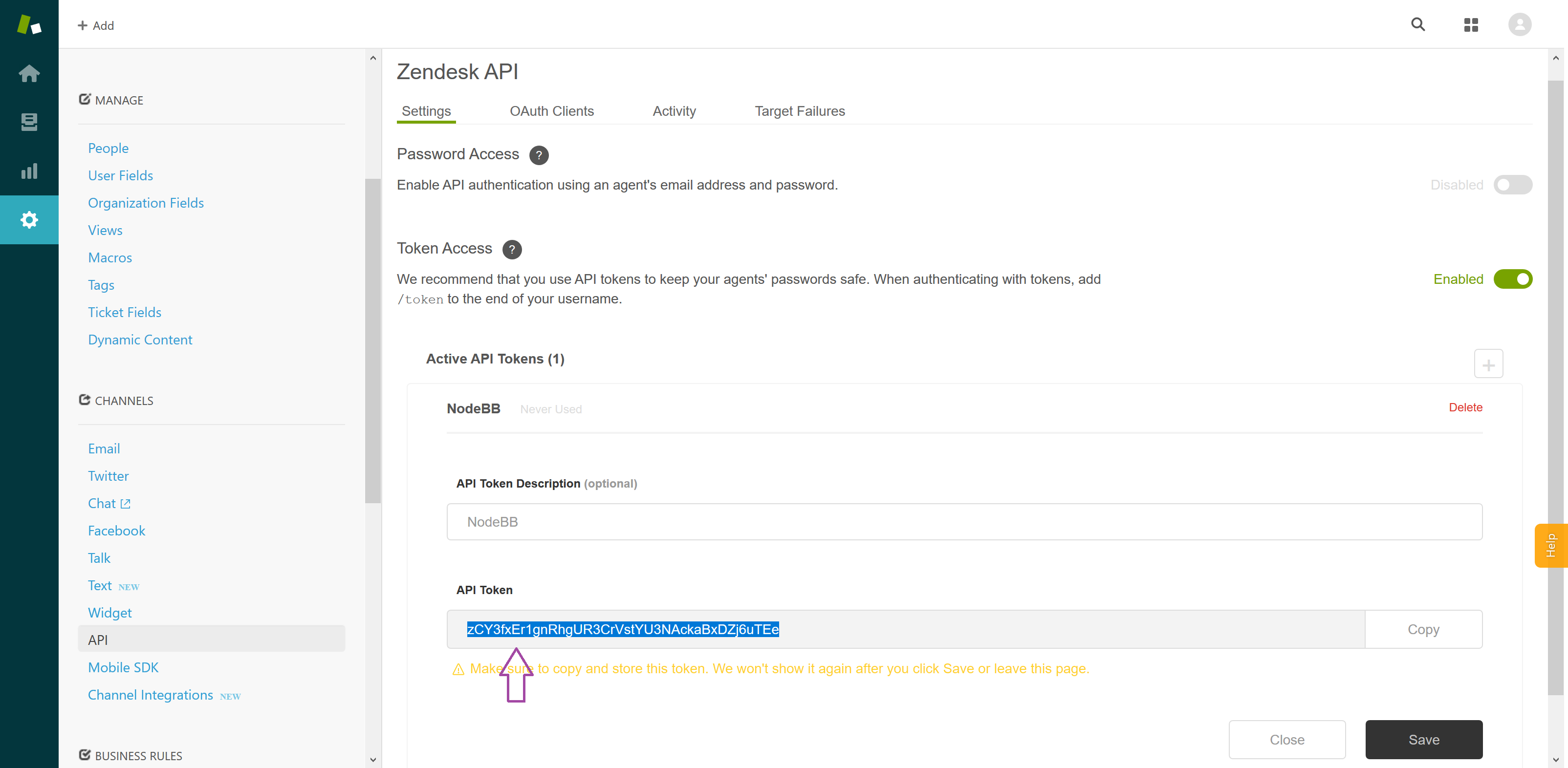 Step-by-step instructions on configuring NodeBB's Zendesk