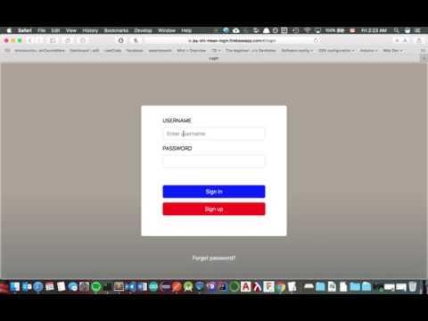 Login Web App Demo