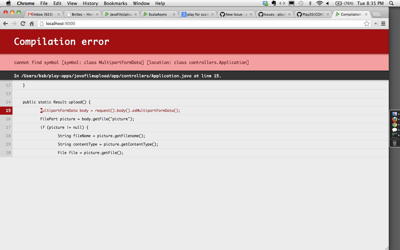 2 1 2-Java] Error in file upload using multipart/form-data