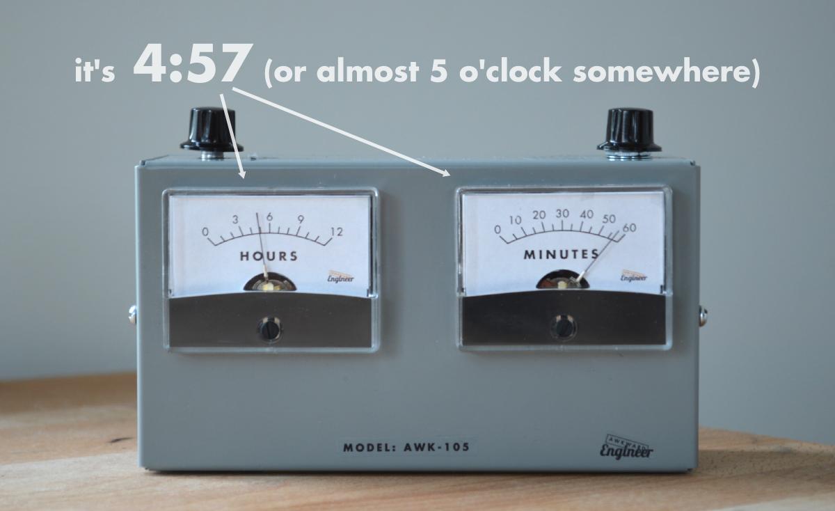 Voltmeter Clock Image