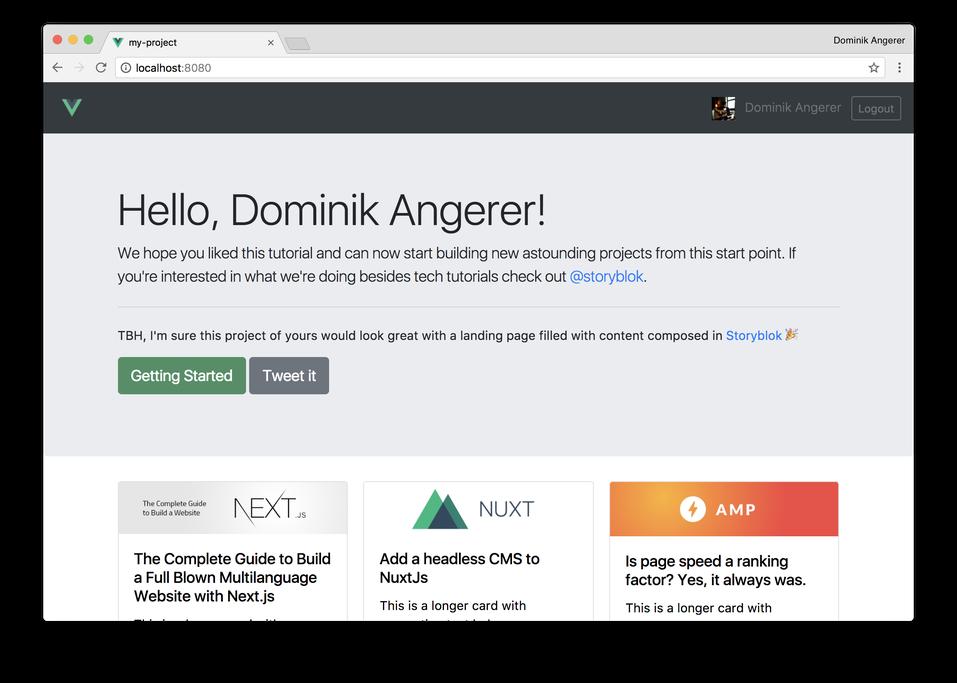 GitHub - DominikAngerer/auth0-vue: A simple Vue js Demo Application