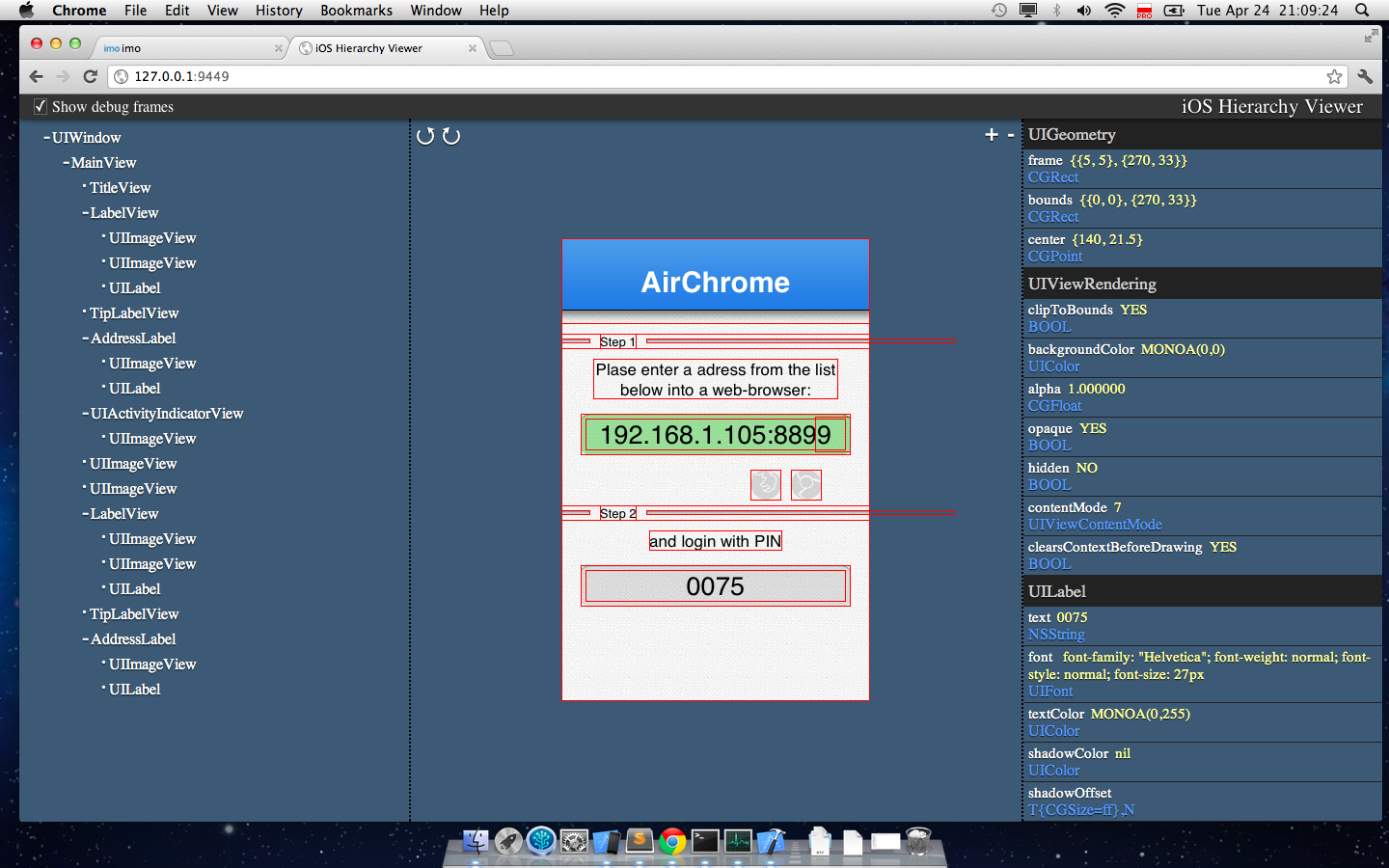 iOS-Hierarchy-Viewer on CocoaPods org
