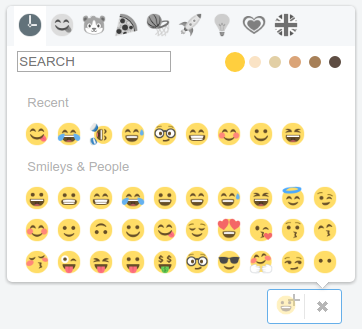 EmojiOneArea - Standalone mode