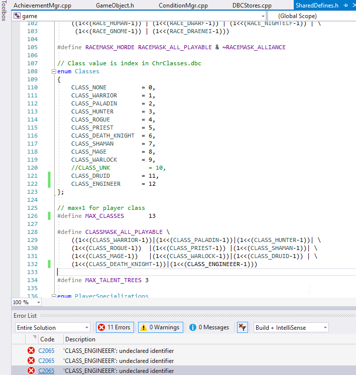 Emulator code modification for new class