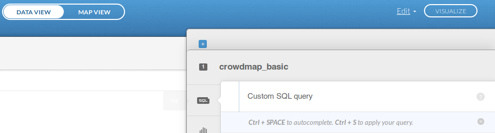 Custom SQL tab