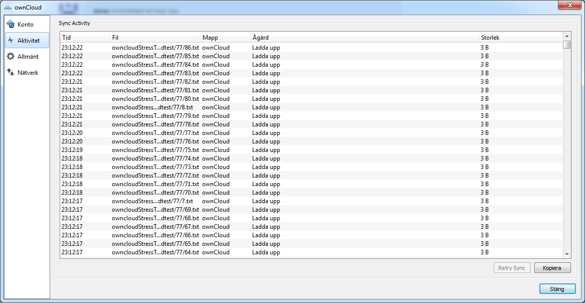 Synchronizing small files = very slow · Issue #7072