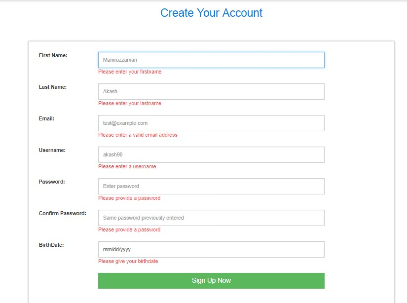 User_Registration_Page_With_Validation