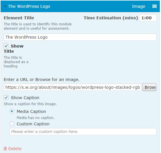CoursePress - Course - Units - Elements - Image