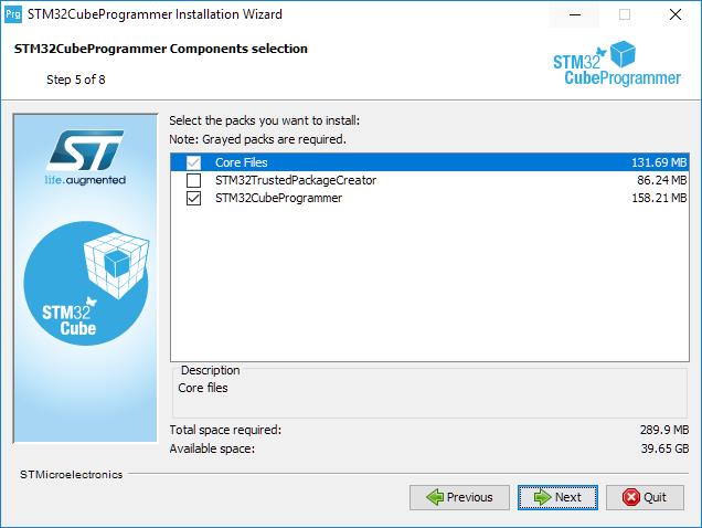 Install programmer step 5