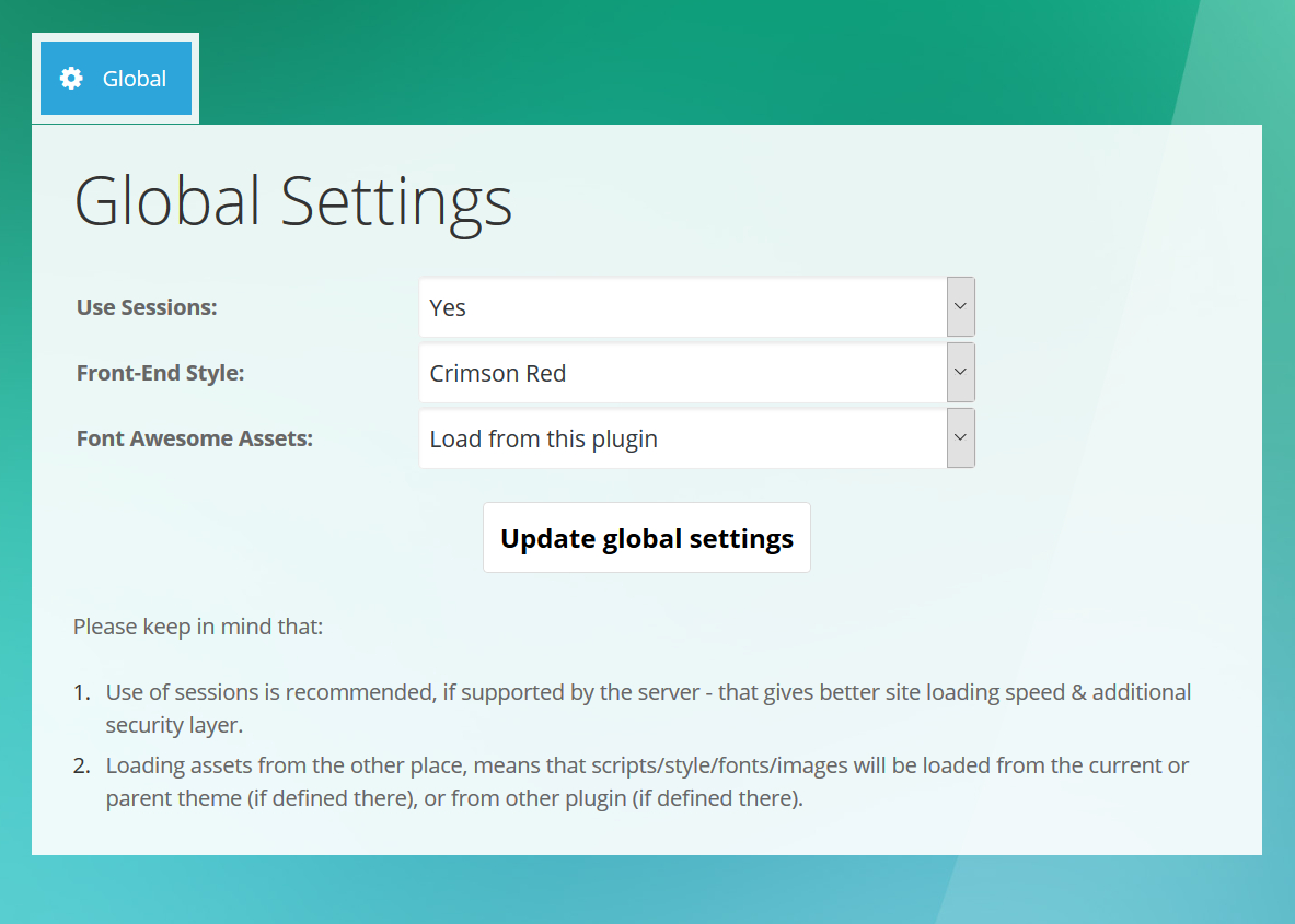 3. Expandable FAQ - Admin Global Settings