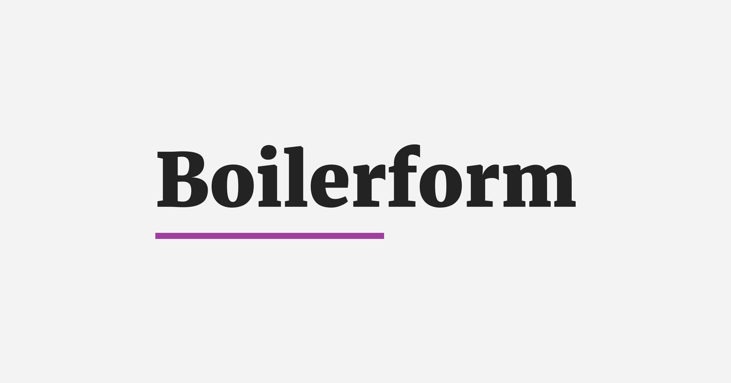 The Boilerform logo