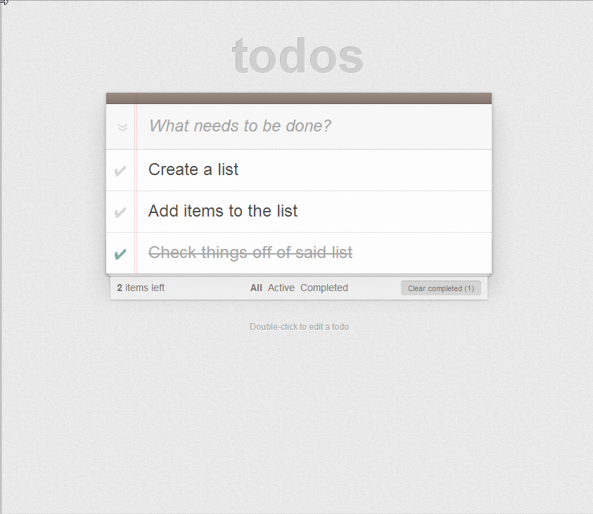 TodoMVC Screenshot