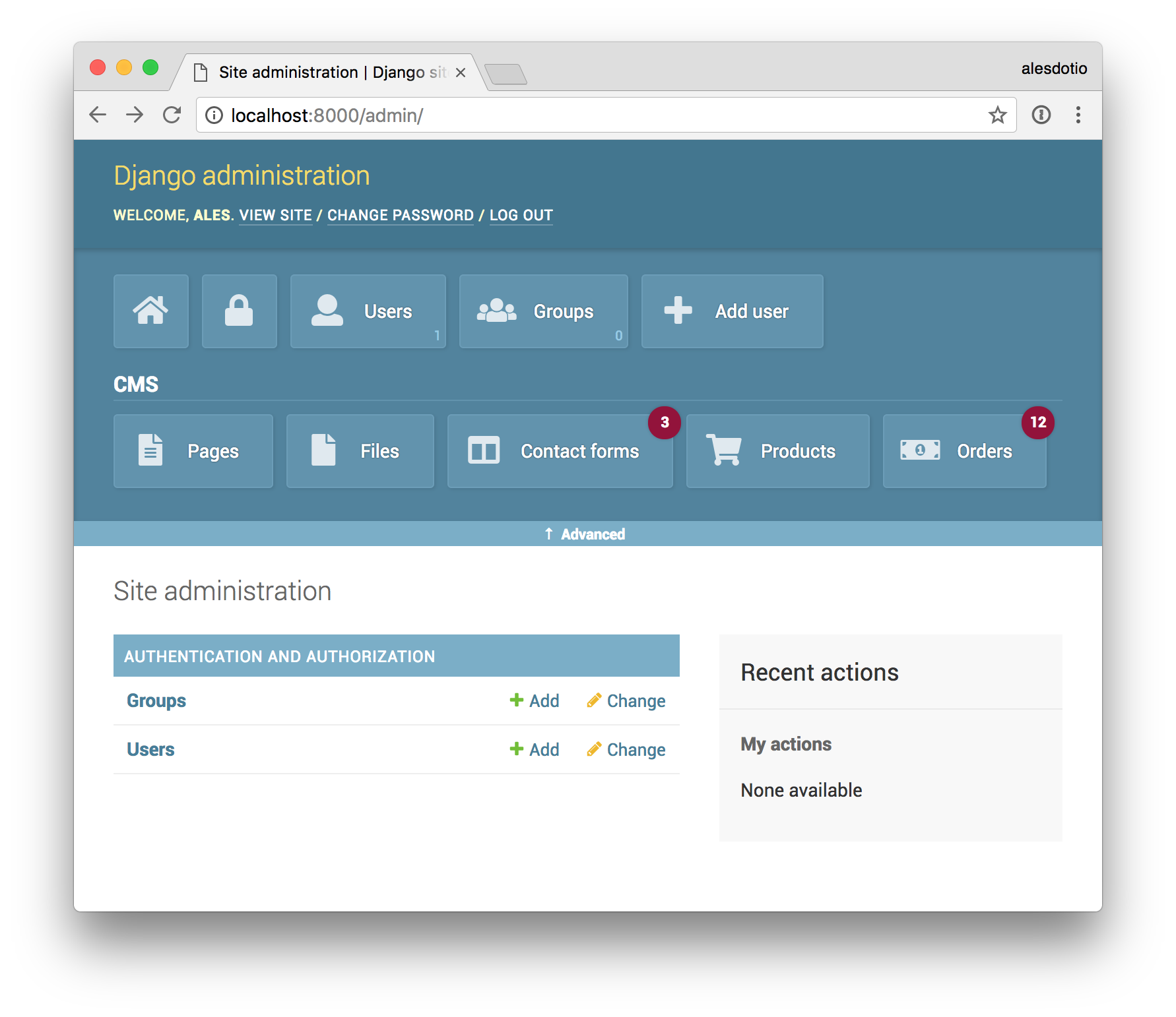 Github alesdotio django admin shortcuts add simple and for Django site templates