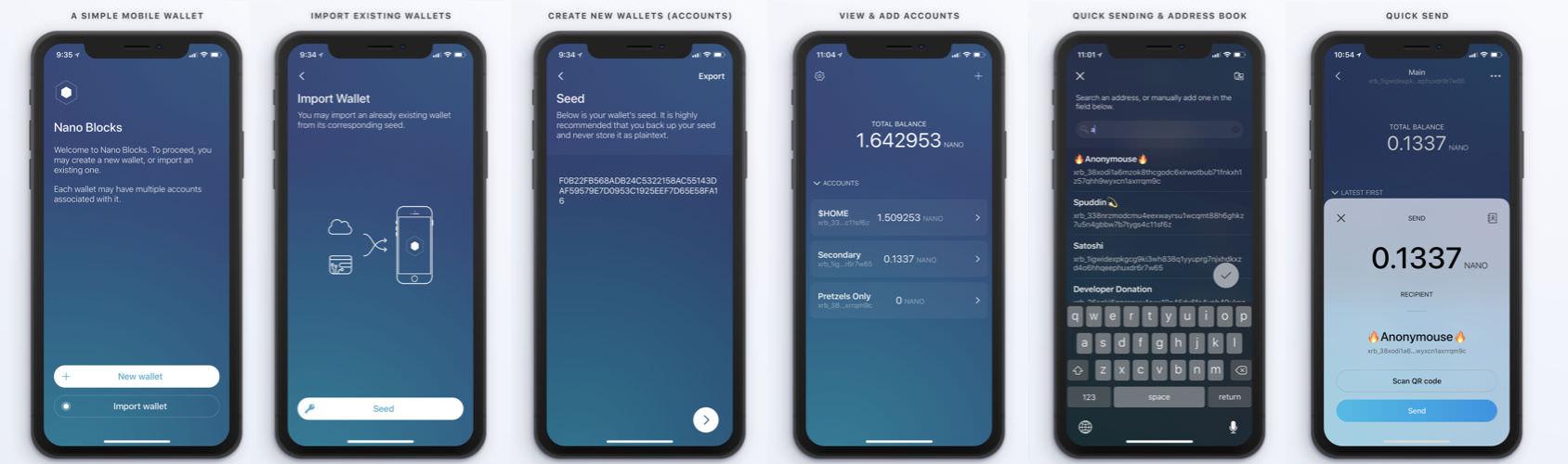 📸 screenshots of the app