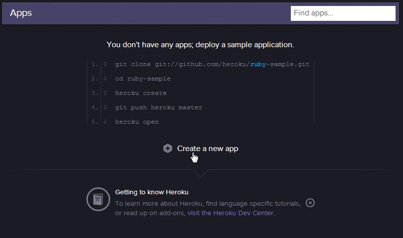 heroku new app