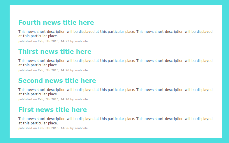 how to create a news site