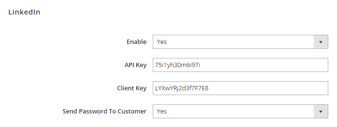 Magento 2 social login with  linkedin sign in button