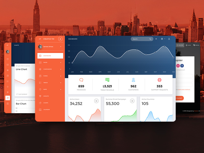 now-ui Dashboard Pro HTML