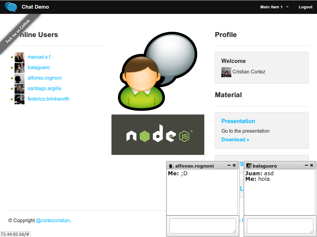 GitHub - cortezcristian/chat-demo: chat-demo