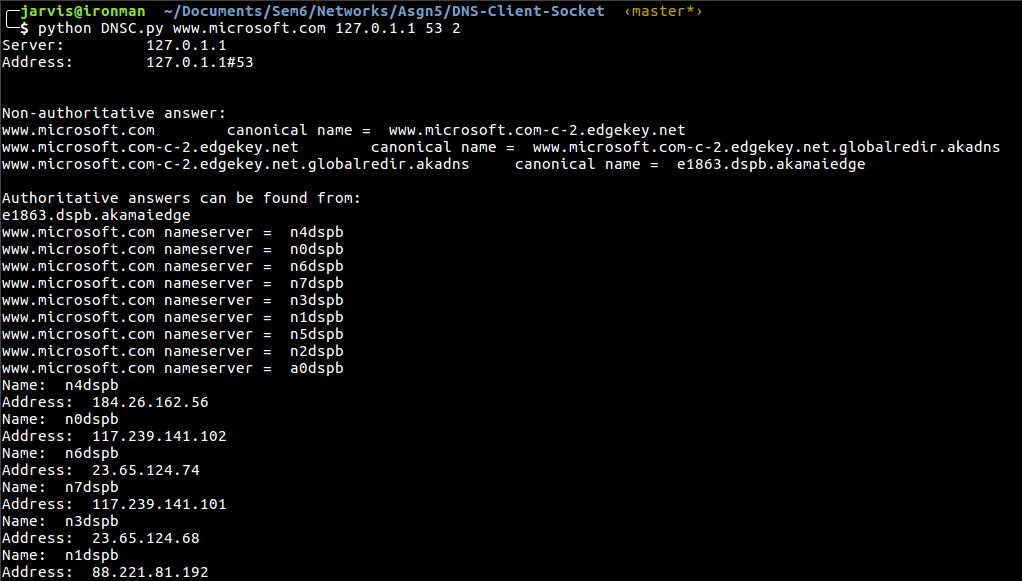 GitHub - shubhammatta/DNS-Client-Socket: DNS Client using