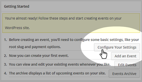 Events - Get Started