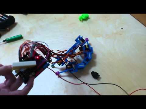 Четырехногий робот. Нападение