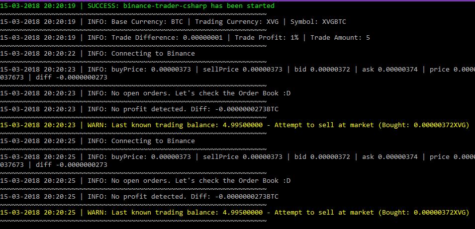 binance c# bot)