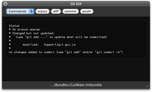 GuiMate 1.6 Git GUI by Thomas Aylott / subtleGradient
