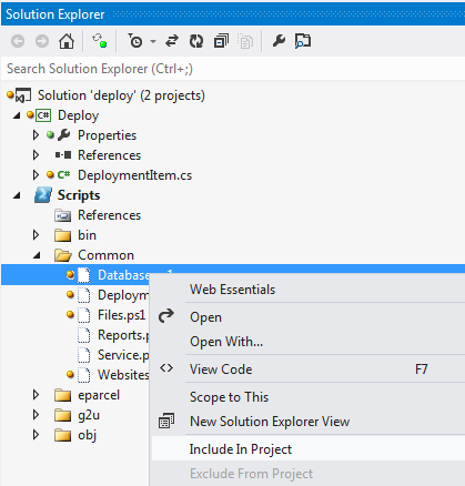 Include in project broken for Powershell Script Projects · Issue #66